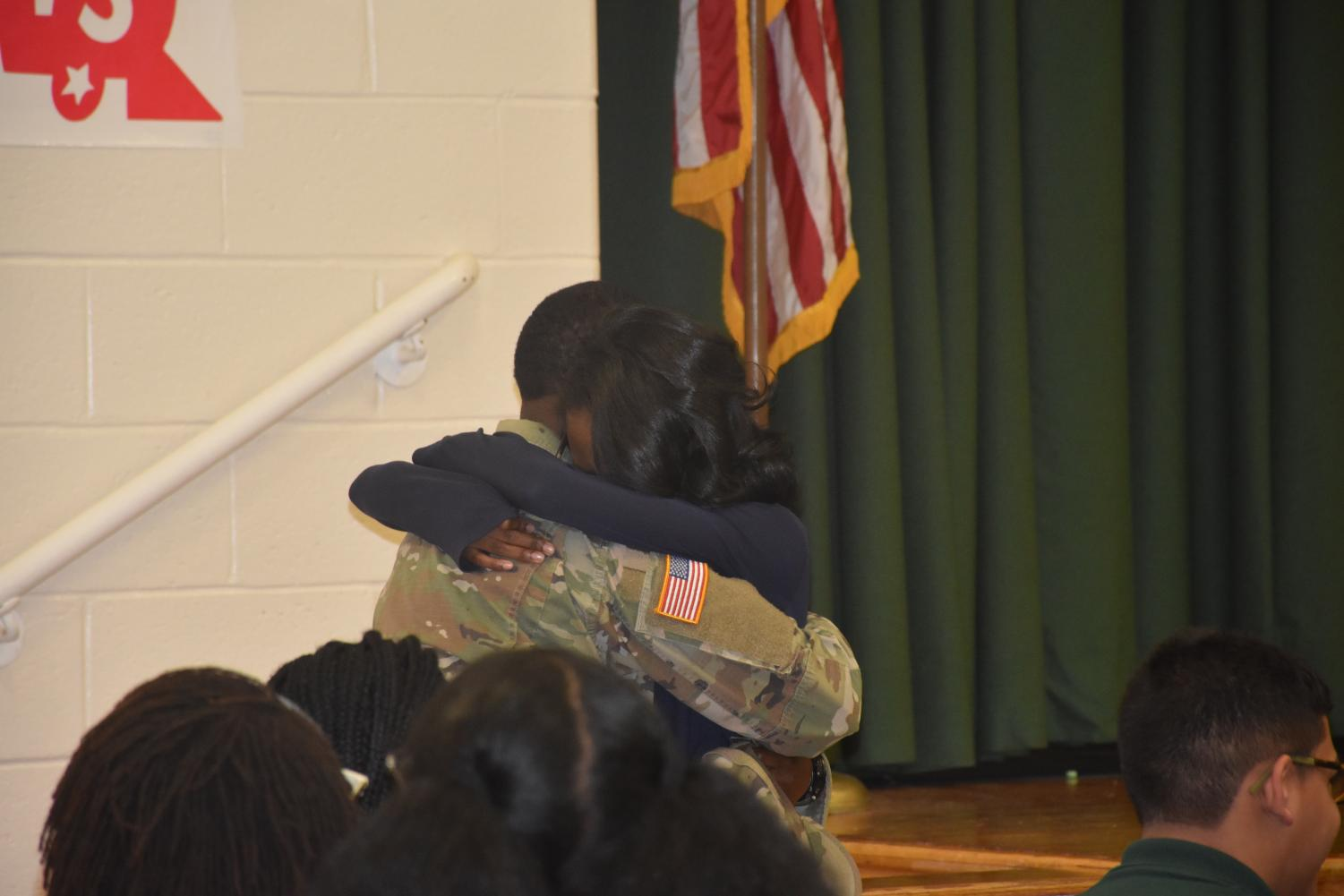 Eleisha Poole and her Aunt reunite after her Aunt was previously serving the nation.
