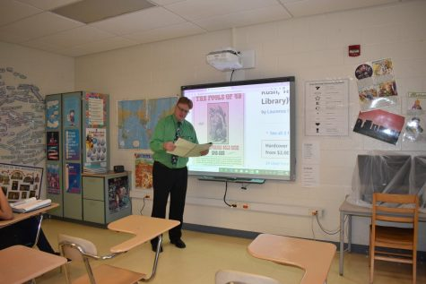 Mr. Voss with his second period history class.