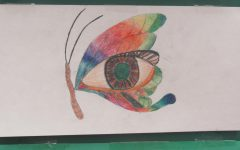 The students were challenged to begin with a human eye and transform it into something surreal.